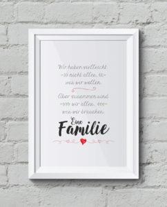 """Familie"" Kunstdruck, Familienposter"