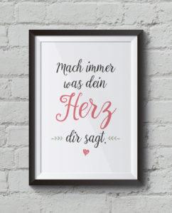 """""""Herz"""" Kunstdruck, Statementposter"""